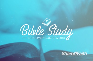 Church Bible Study Motion Graphic