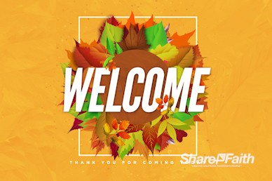 Church Fall Kickoff Welcome Motion Graphic
