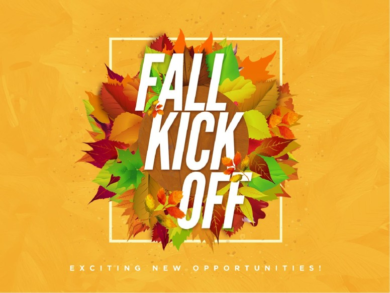 Church Fall Kickoff PowerPoint Template