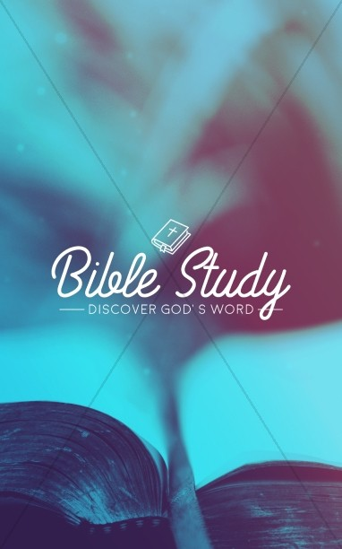 Church Bible Study Bulletin Cover