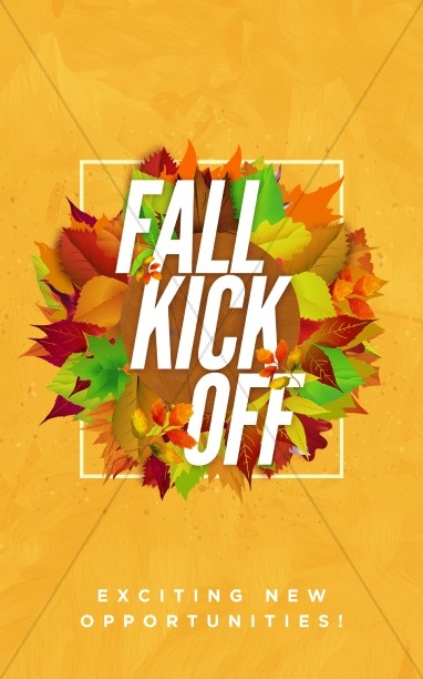 Church Fall Kickoff Bulletin Cover Template