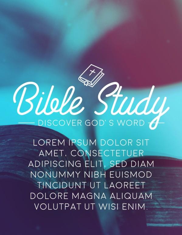 Church Bible Study Flyer Template