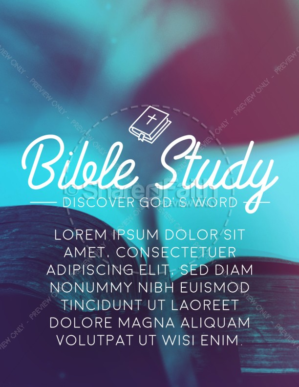 church bible study flyer template template flyer templates. Black Bedroom Furniture Sets. Home Design Ideas