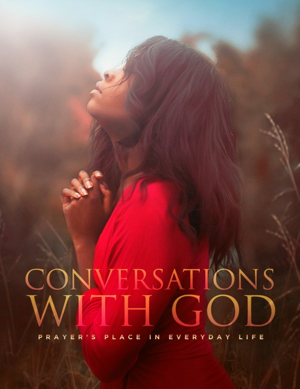 Conversations With God Church Flyer Template