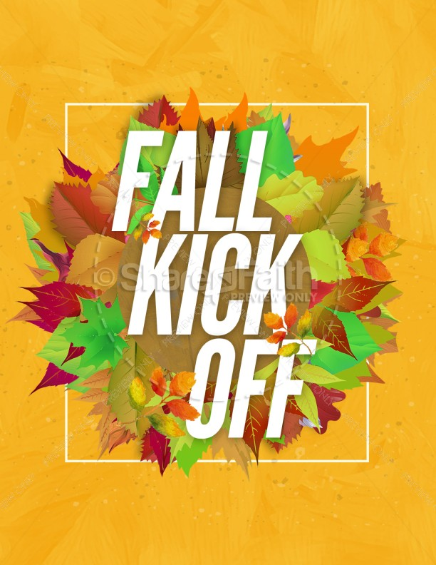 Church Fall Kickoff Flyer Template