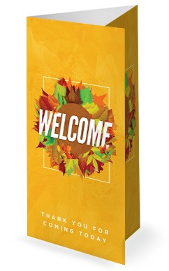 Church Fall Kickoff Tri Fold Bulletin Cover Template