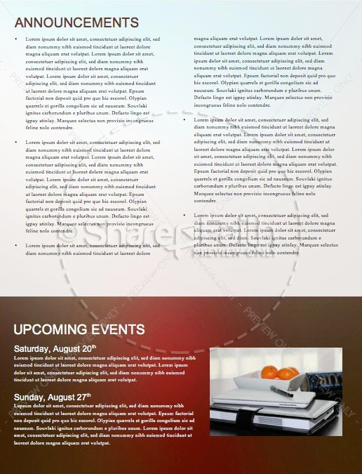 Conversations With God Church Newsletter Template