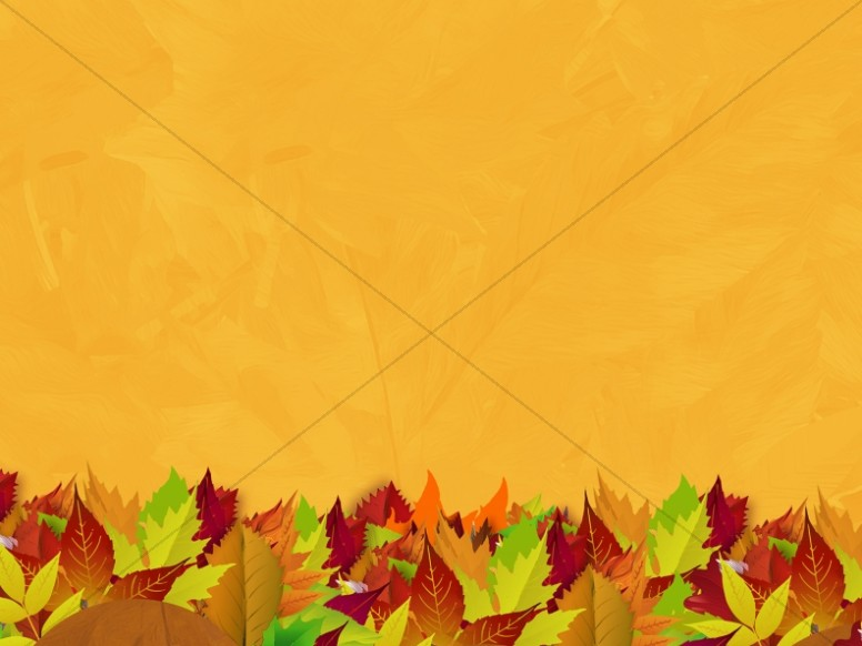 Church Fall Kickoff Autumn Leaf Worship Background