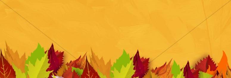 Church Fall Kickoff Autumn Leaf Website Banner