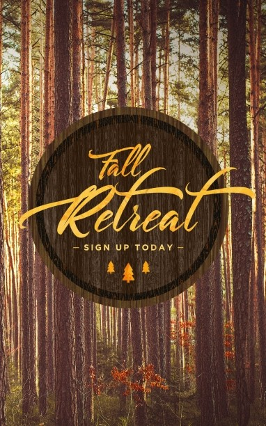 Fall Retreat Church Bulletin Cover