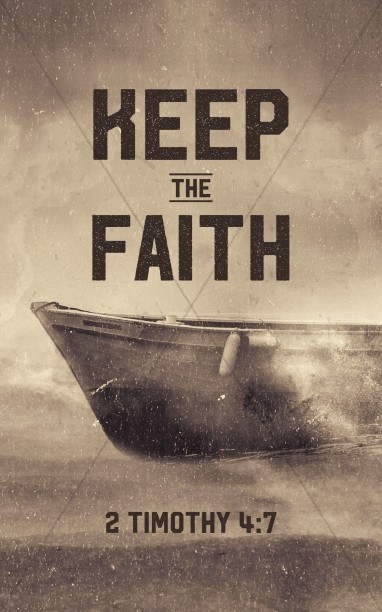Keep the Faith Church Bulletin Template