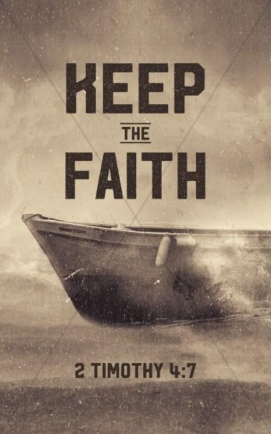 Keep The Faith Church Bulletin Template Sermon Bulletin Covers