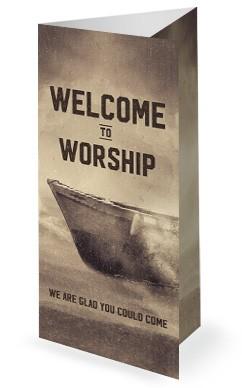 Keep the Faith Church Tri Fold Bulletin Template