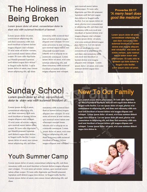 Fall Retreat Church Newsletter Template