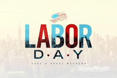 Labor Day Church Motion Graphic