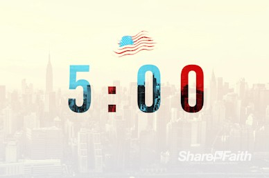 Labor Day Church Countdown Timer