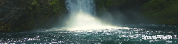 Waterfall Adventure Church Triple Wide Motion Graphic