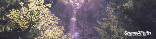 Sunny Waterfall Triple Wide Motion Graphic