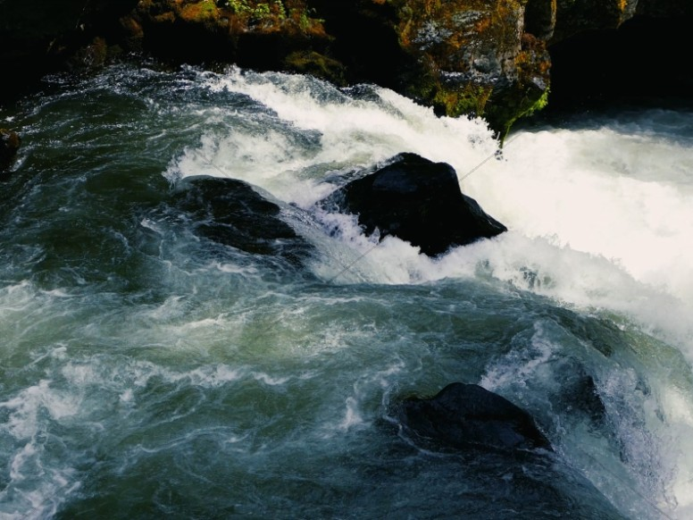 White Water River Rapids Worship Background
