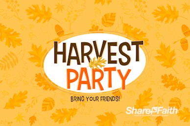 Harvest Party Church Motion Graphic