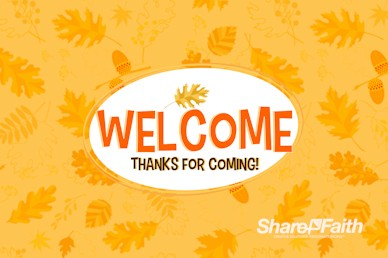 Harvest Party Welcome Motion Graphic