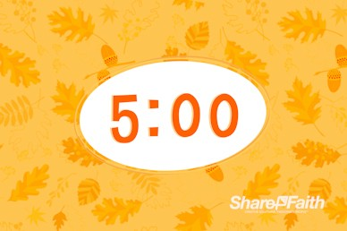 Harvest Party Church Countdown Timer