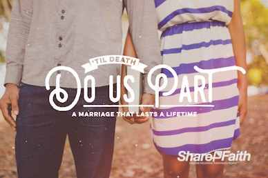 Till Death Do Us Part Marriage Motion Graphic
