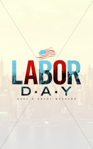 Labor Day Church Bulletin Cover