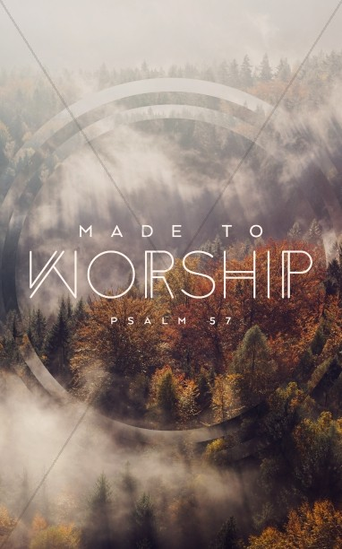 Made to Worship Church Bulletin Cover Template