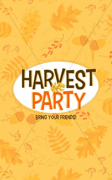 Harvest Party Church Bulletin Template