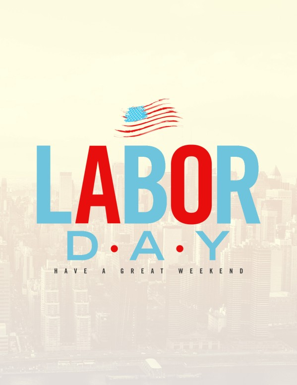 Labor Day Church Flyer Template