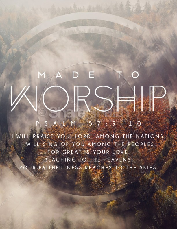 Made to Worship Church Flyer Template