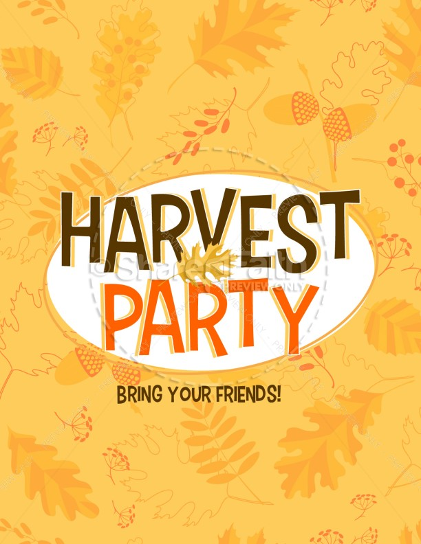 harvest party church flyer design template