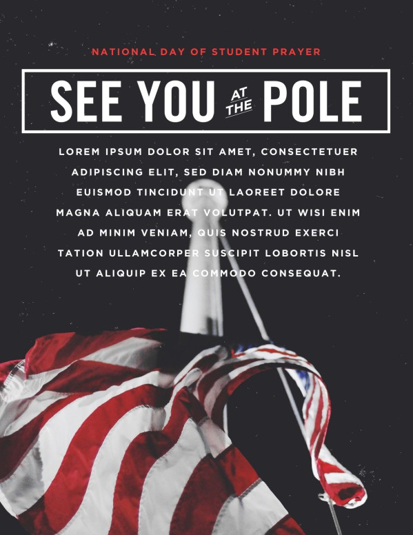 See You At The Pole Flyer Template