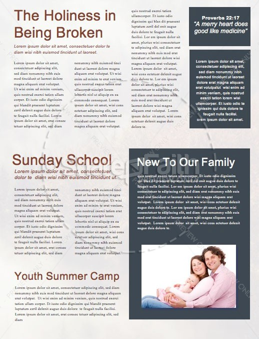 Made to Worship Church Newsletter Template