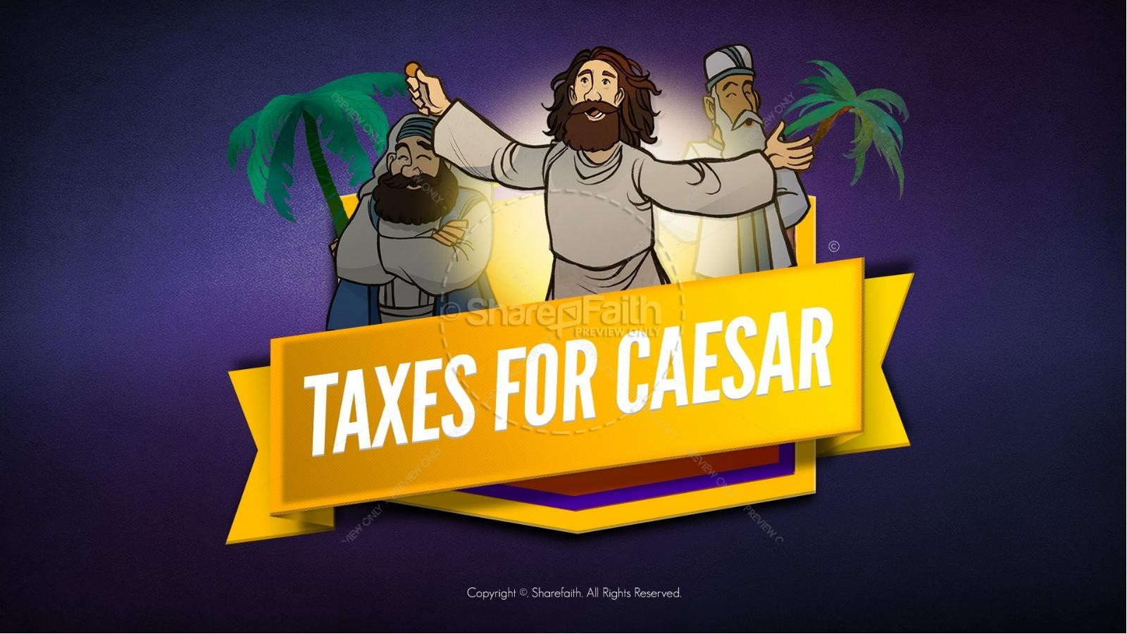 Luke 20 Taxes For Caesar Kids Bible Story