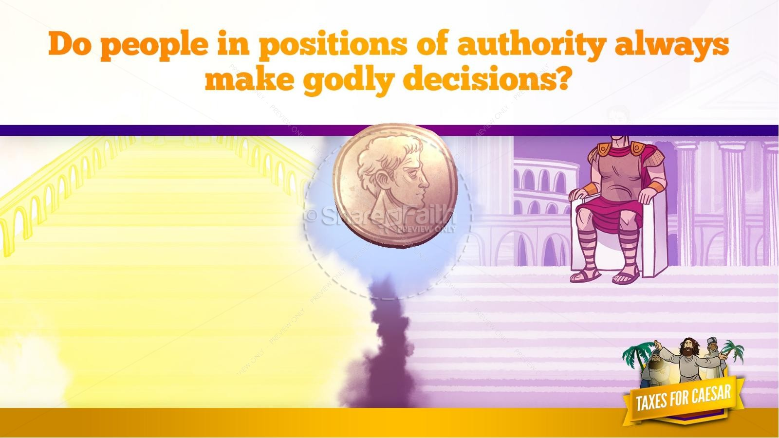 Luke 20 Taxes For Caesar Kids Bible Story | slide 33