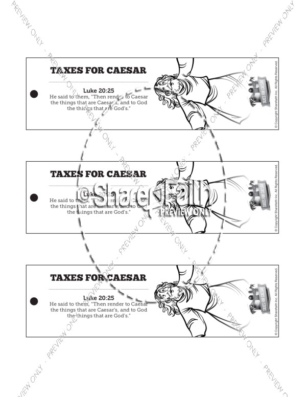Luke 20 Taxes For Caesar Bible Bookmarks