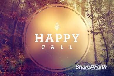 Happy First Day Of Fall Church Motion Graphic