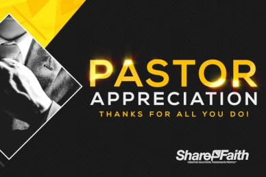 Pastor Appreciation Sermon Motion Graphic