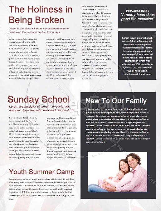 See You At The Pole Newsletter Template