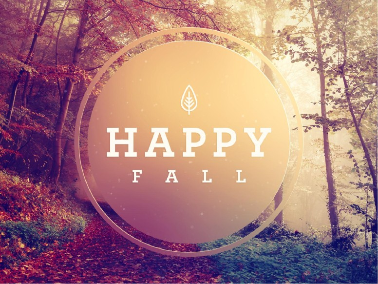 Happy First Day Of Fall PowerPoint Template