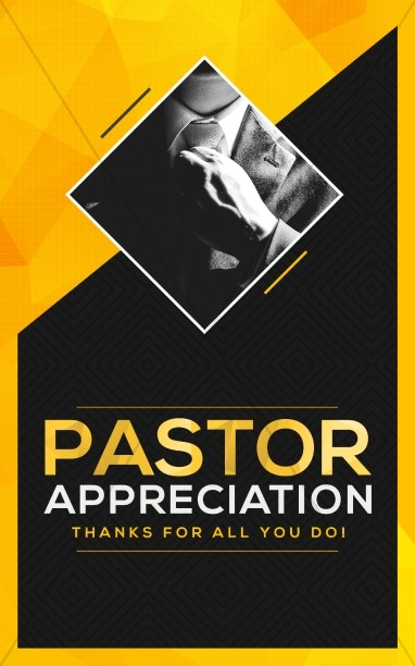 Pastor Appreciation Church Bulletin Template