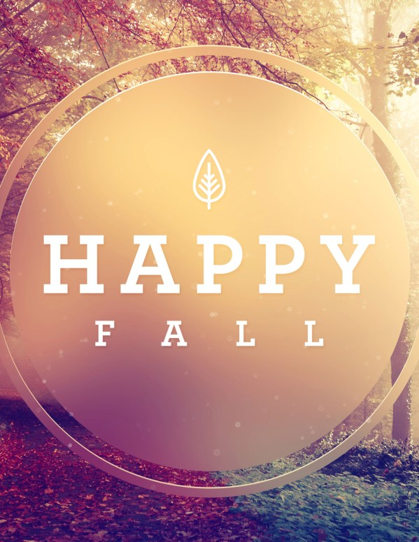 Happy First Day Of Fall Flyer Template
