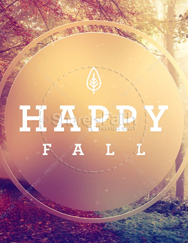 Happy First Day Of Fall Flyer Template Template  Flyer Templates