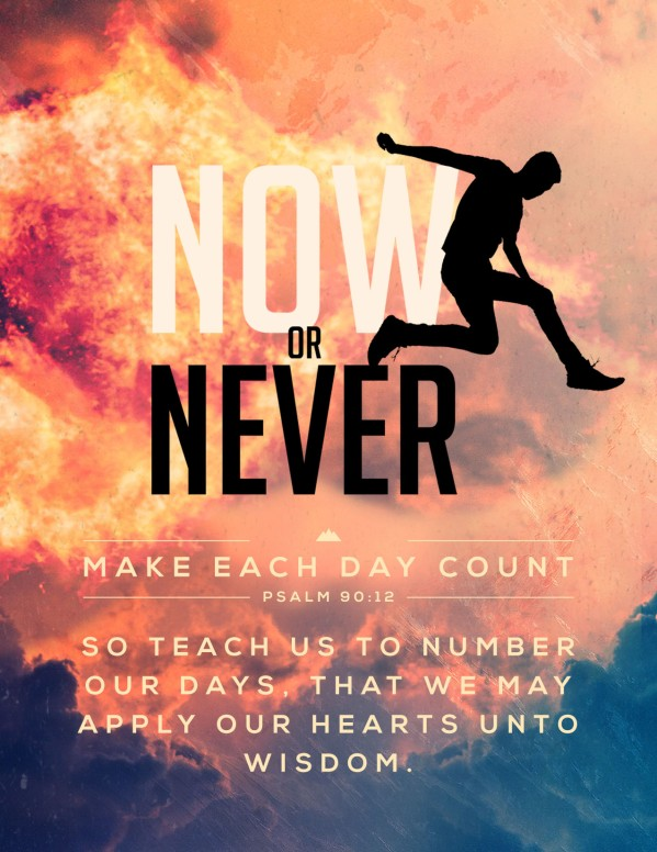 Now Or Never Church Flyer Template