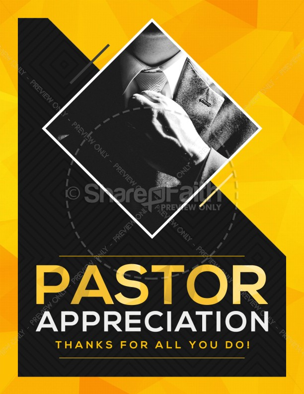Pastor Appreciation Church Flyer Template Template Flyer Templates