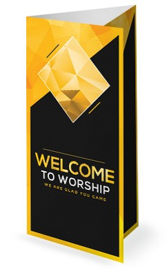 Pastor Appreciation Church Trifold Bulletin Template