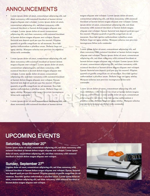 Happy First Day Of Fall Newsletter Template