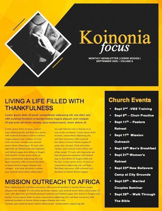 Pastor Appreciation Church Newsletter Template